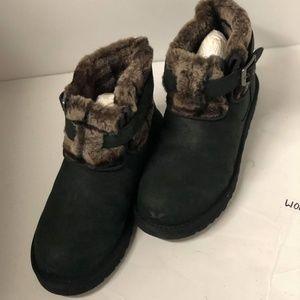 Ugg Australia Jocelin Black Leather Ankle Boots